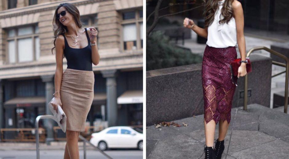 Элегантная юбка-карандаш: 7 красивых модных образа 2018