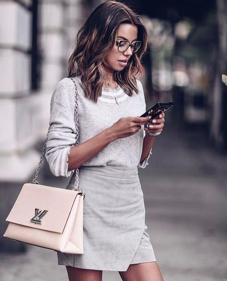 Свитер+юбка: 6 идей, как носить самые модные сочетания