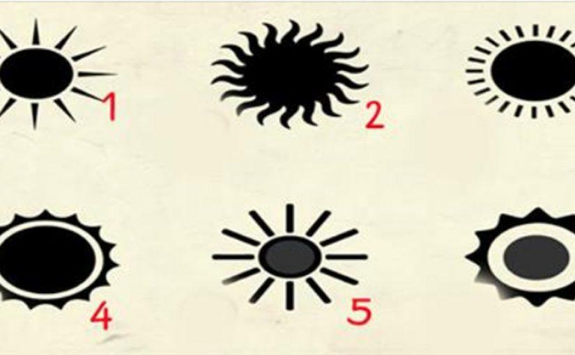 Выберите солнце и раскройте главную особенность вашей личности