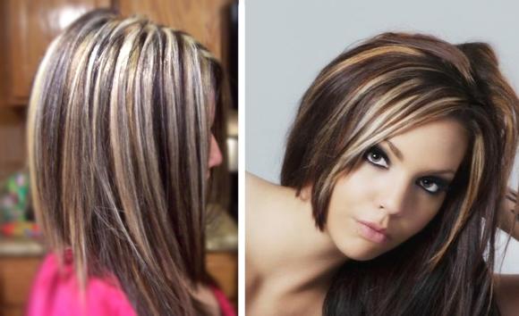 Покраска волос мелирование прядей