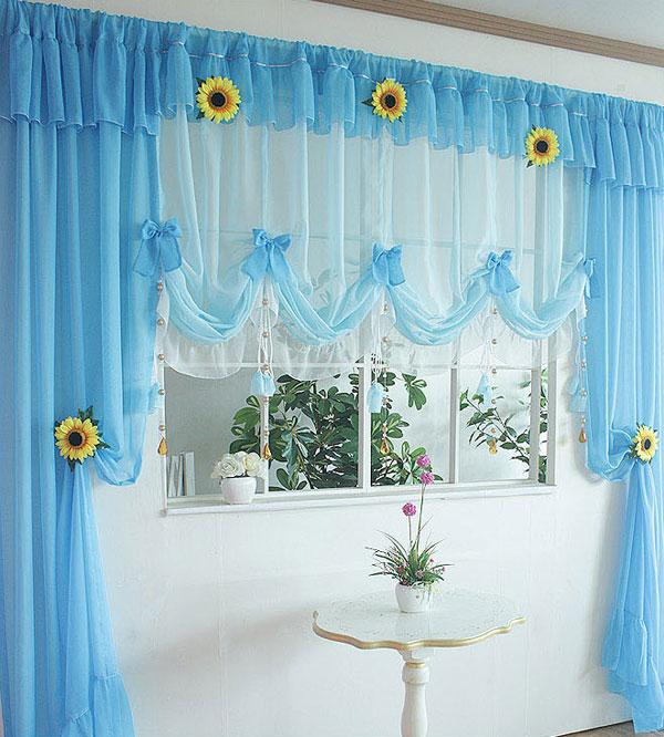 Фантастической красоты шторы на кухню