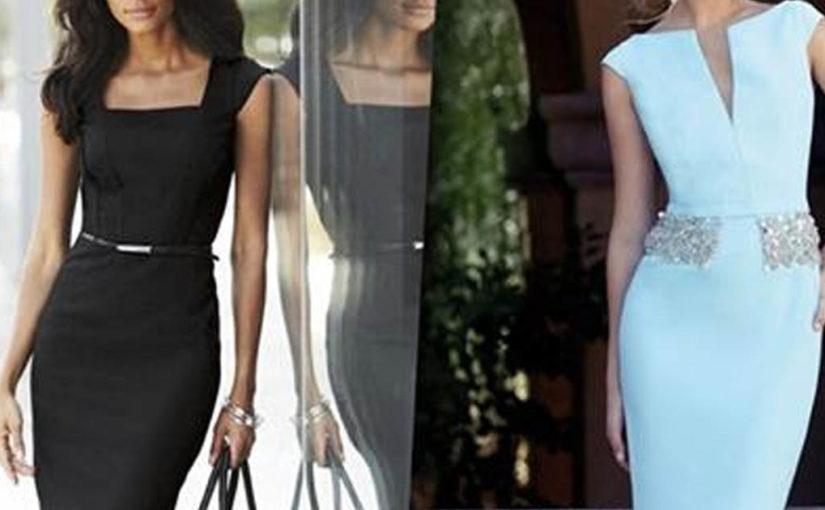 Элегантные образы сдержанной классики: 25 стильных идей с роскошным платьем-футляр