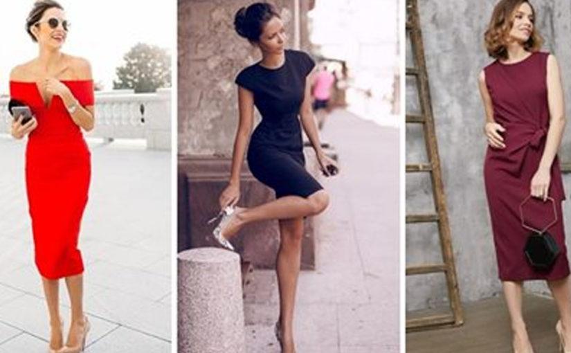10 элегантных образов с платьями-футляр для настоящих леди