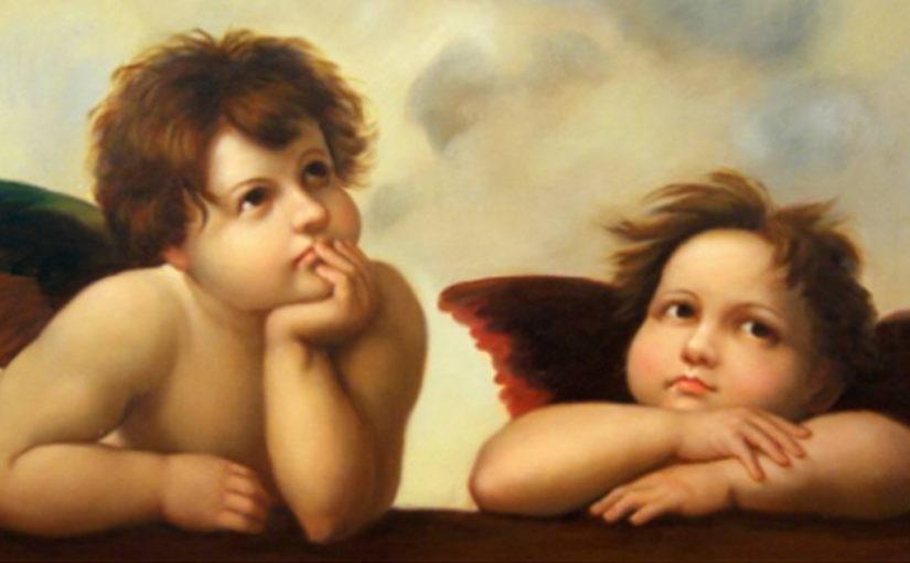 Разговор двух ангелов-хранителей. Потрясающе!