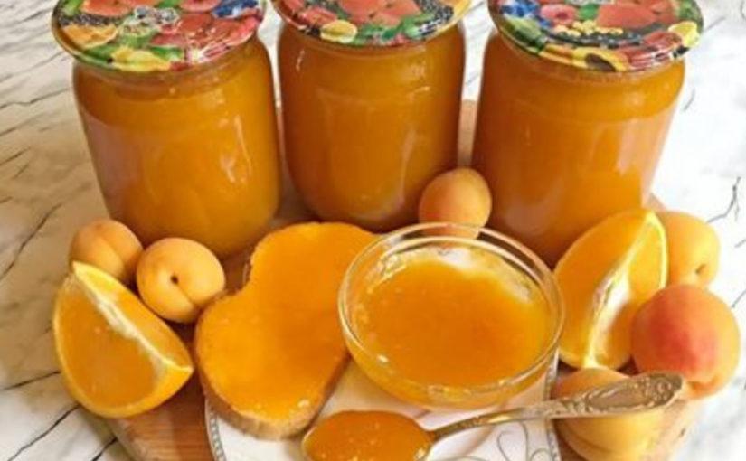 Густой и очень вкусный джем из абрикосов с апельсинами