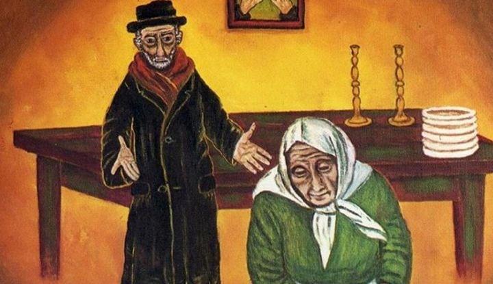 Еврейская притча: Жила-была бедная еврейская семья.