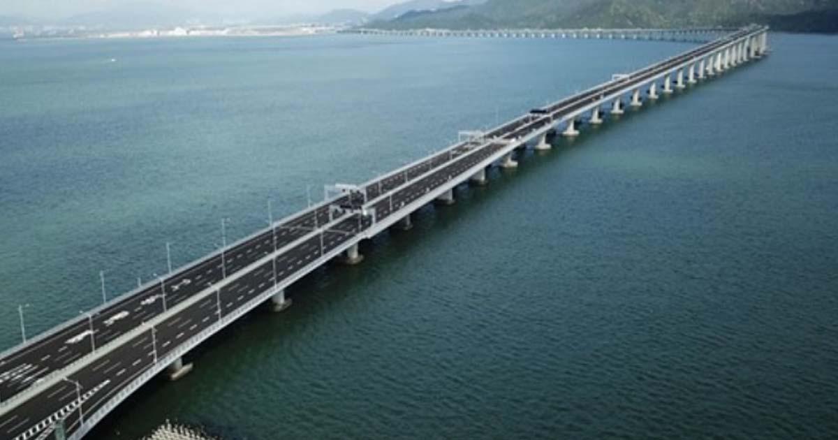 На этой неделе в Китае откроют самый длинный мост в мире