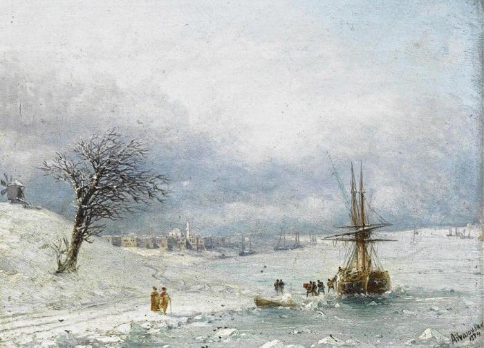 Неизвестный Айвазовский: зимние пейзажи прославленного мариниста