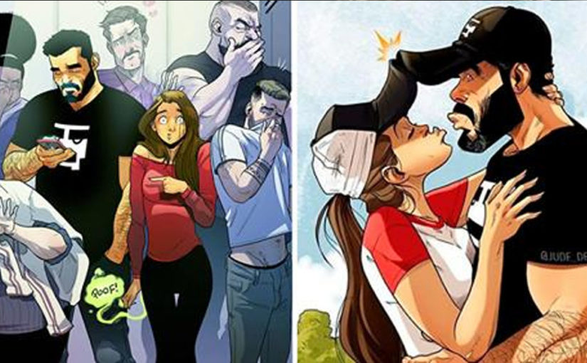 Новые забавные комиксы о приключениях семейной парочки