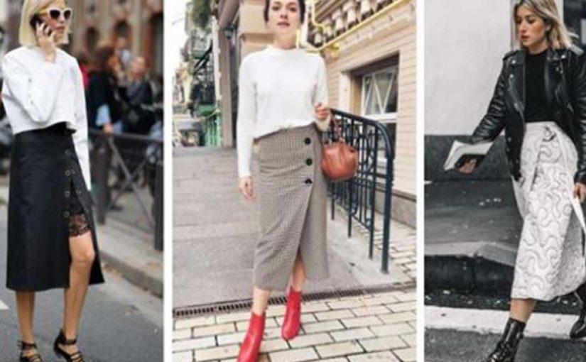 Изящные юбки с запахом осень-зима 2018-2019: кожаные, кружевные и другие тренды