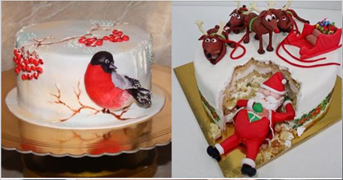 Изумительные зимние тортики