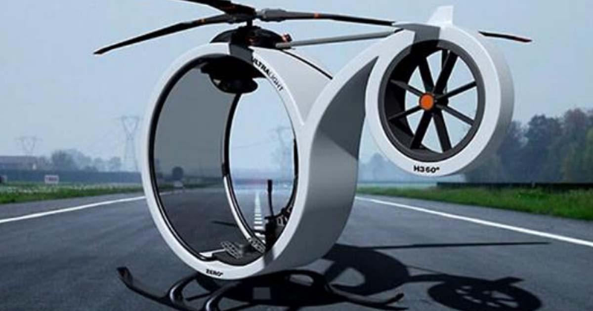 Вертолет ZERO – личный транспорт нового поколения, который станет спасением от пробок