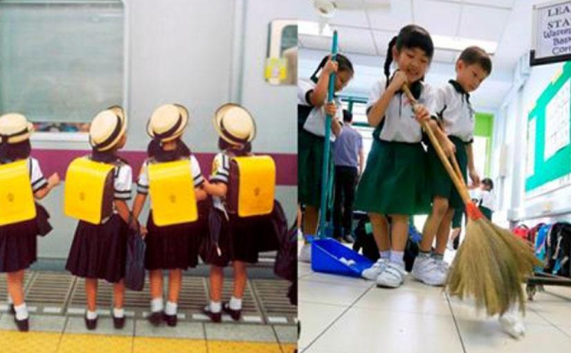 Самостоятельность и организованность с детства: 5-летние японские дети ездят на метро и убирают