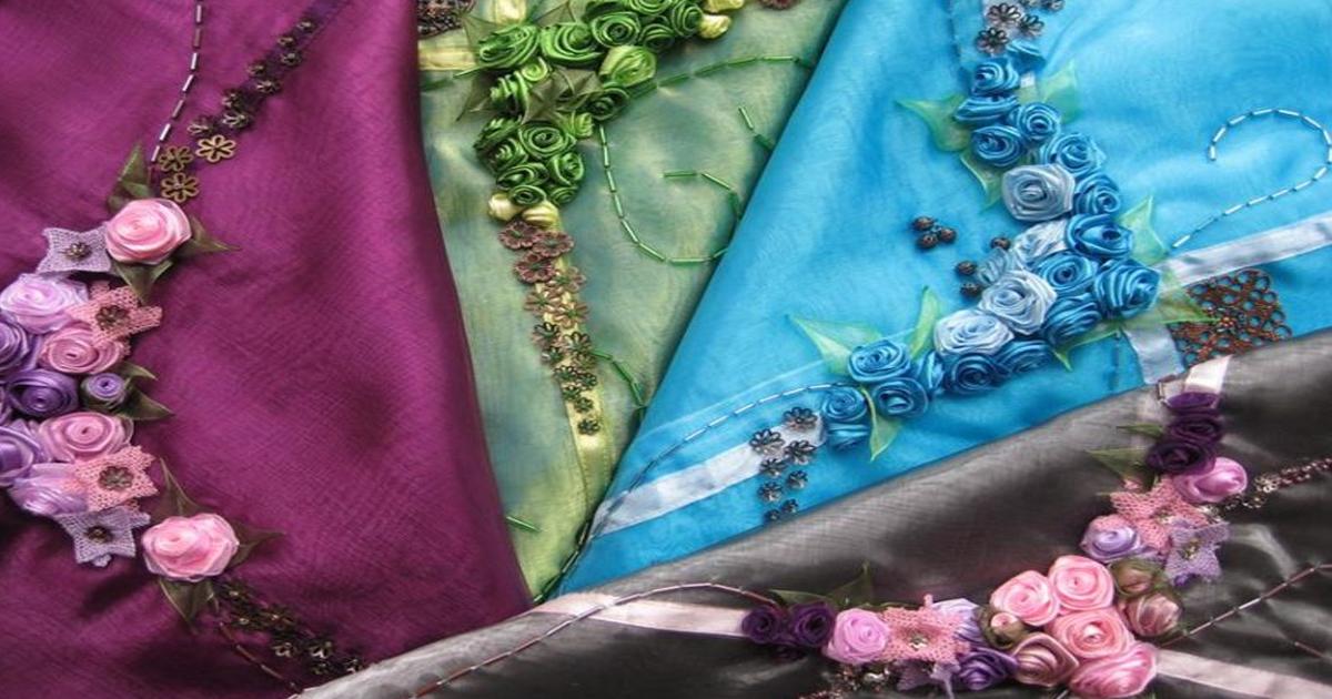 Изысканные идеи украшения одежды лентами