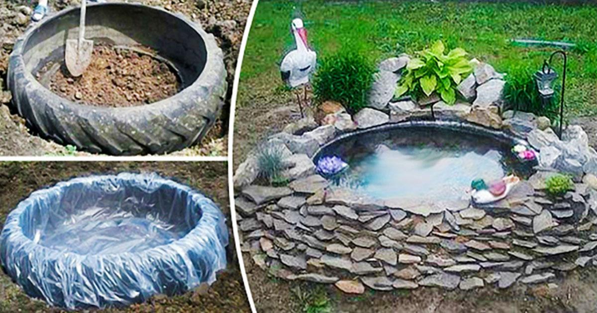 Идея самодельного декоративного пруда для дачи: пошаговая инструкция