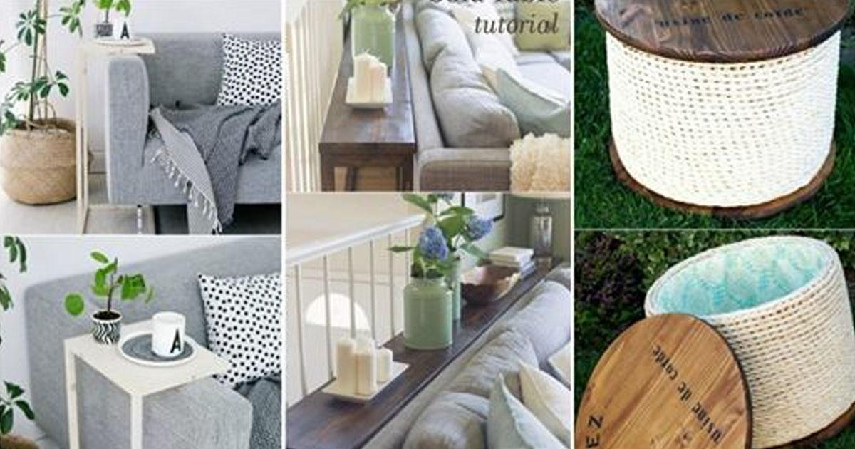 18 стильных столиков своими руками, которые украсят любую комнату