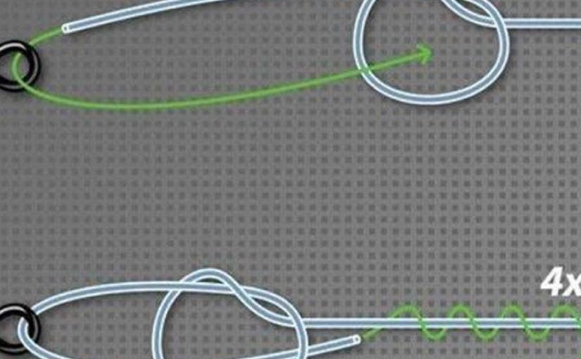 Надежный петлевой узел — схема завязывания