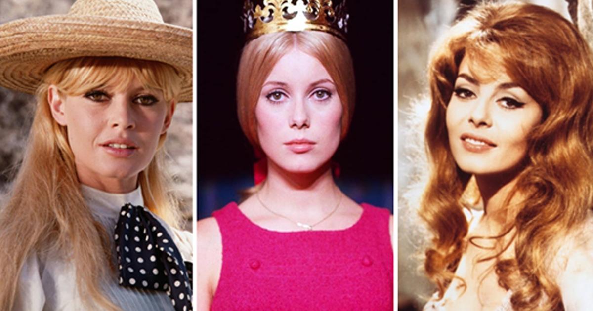 Знаменитые французкие актрисы тогда и сейчас