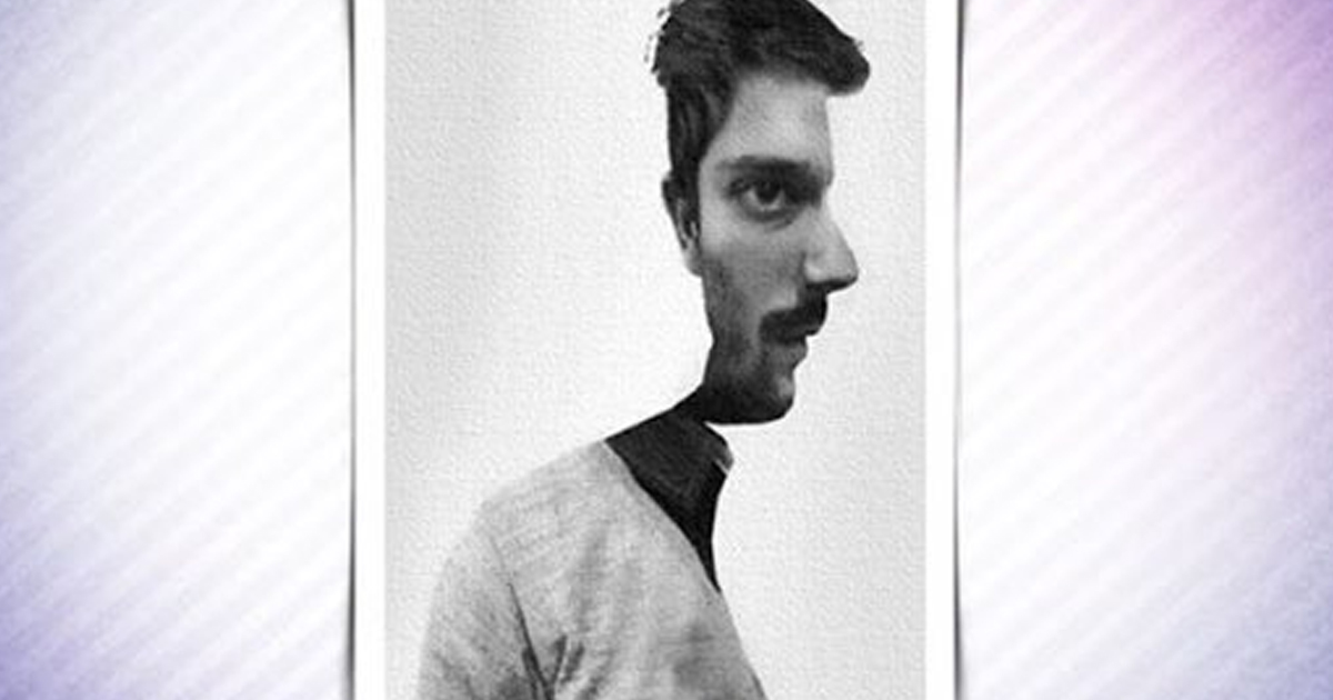 Объяснение, почему вы видите лицо мужчины в профиль или прямо