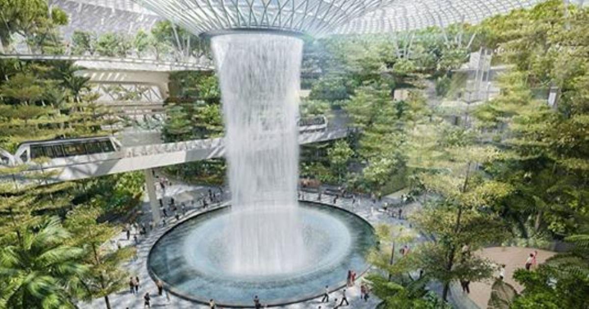 Фантастических аэропорт в Сингапуре, из которого не хочется улетать