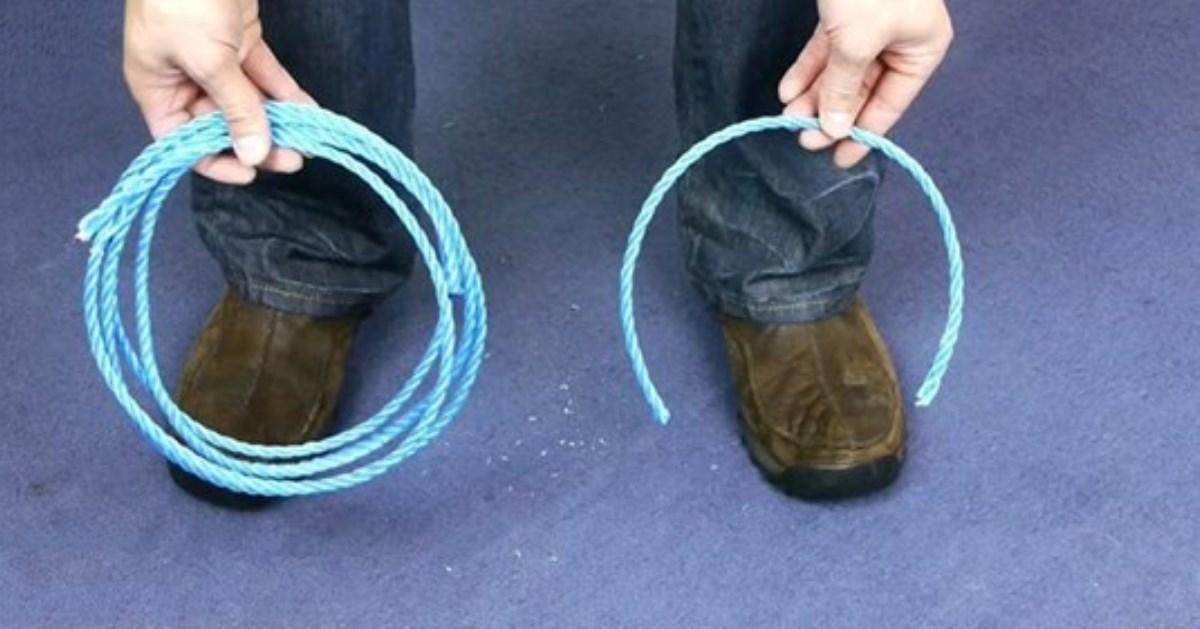 Лайфхак, как перерезать веревку без ножниц и других инструментов