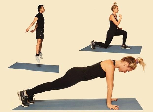 12 упражнений, которые помогут привести тело в форму