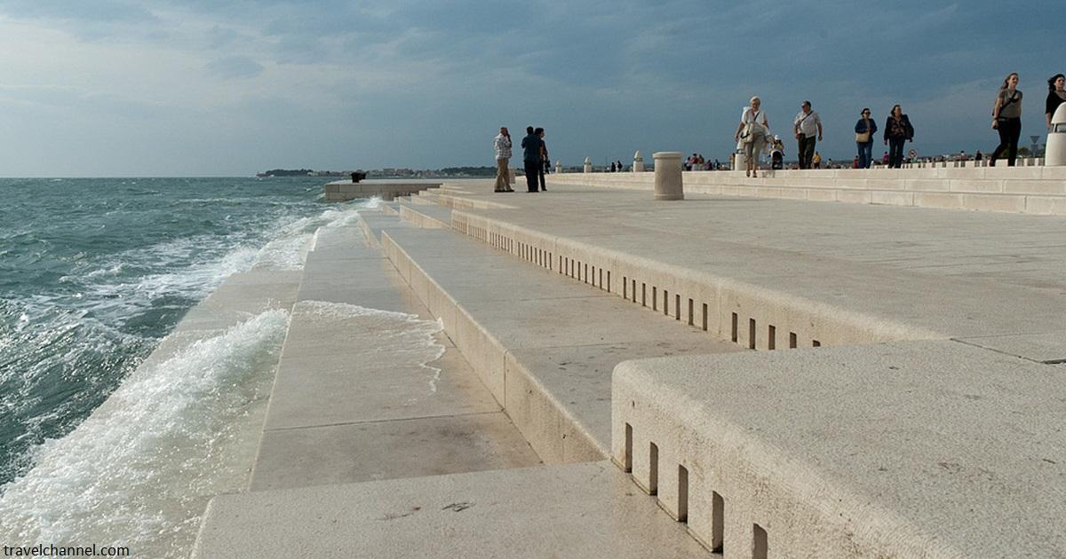 Новости: В Хорватии построили 80-метровый орган, на котором играет море и ветер