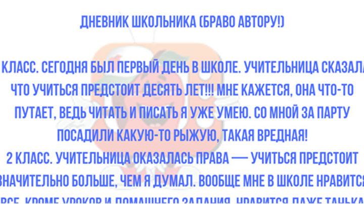 Дневник Школьника.