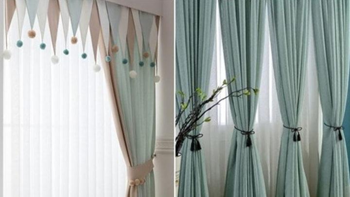 Нестандратные идеи, как оформить окна текстилем