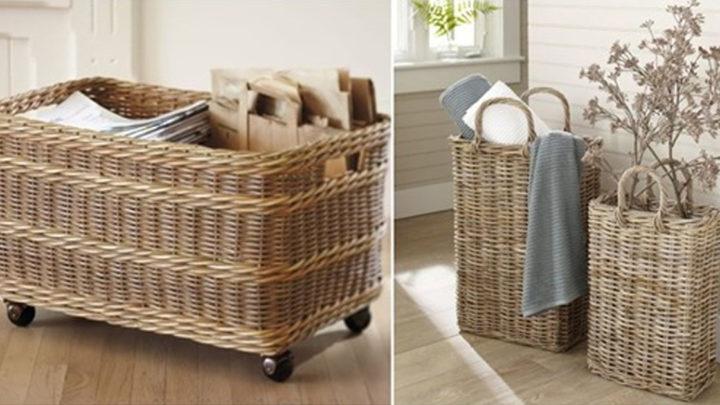 Подборка отличных плетеных корзин для дома