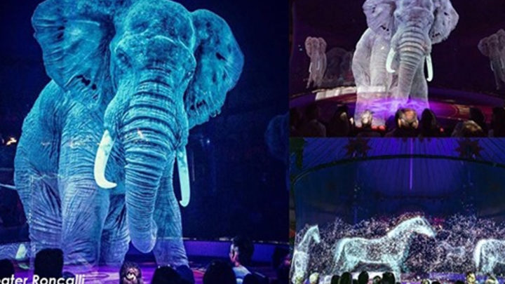 Немецкий цирк использует голограммы вместо живых животных